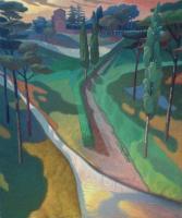 """""""Il porto fluviale"""" - 2007 (Olio su tela cm.100x120)"""
