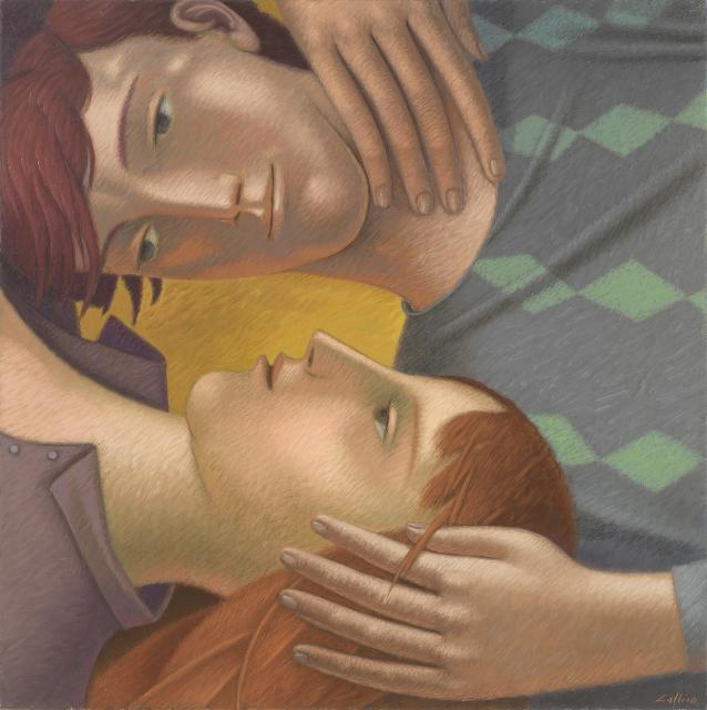 Abbracci - Olio su tela - cm 60x60