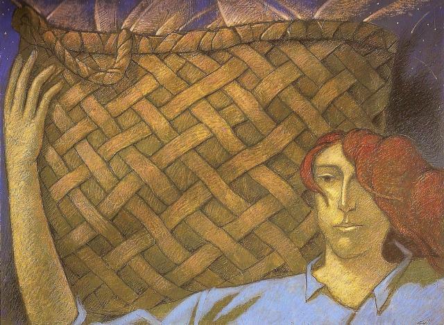 """""""Cacciatrice di stelle"""" - 2005 (Tecnica mista cm.60x80)"""