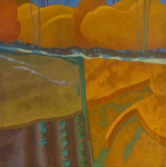 """""""Paesaggio Ideale"""" - olio su tela  cm90x90"""
