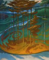 Il confine di un sogno cm.130x160 olio su tela