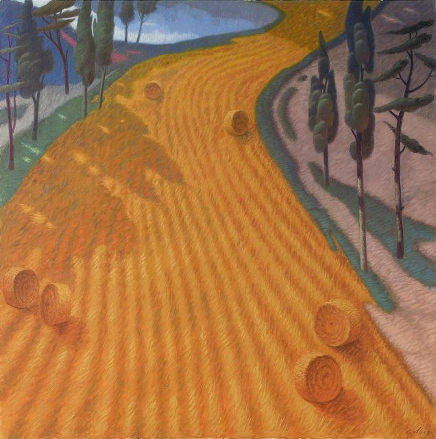 Luglio (Olio su tela cm. 80x80)
