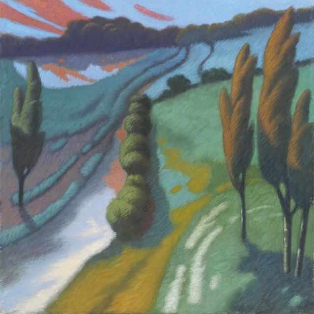 Paesaggio cm40x40 olio su tavola