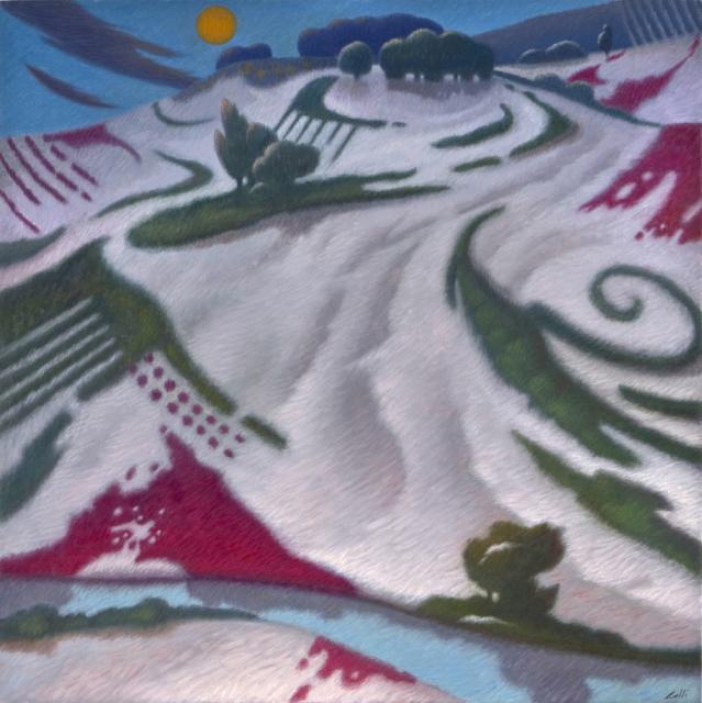 Ultimi giorni d'inverno cm.80x80 olio su tela