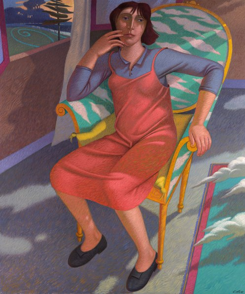 """""""Il cielo in una stanza"""" - 2007 (Olio su tela cm.100x120)"""