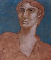 """""""Testa di uomo"""" - 2002 (Tecnica mista cm.30x40)"""